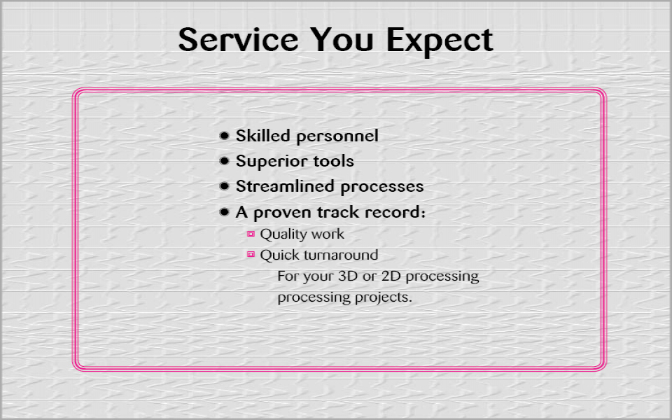 Service You Expect (3)